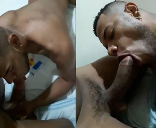Gay chupando rola grande e cabeçuda do Vizinho